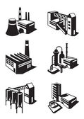 Types of industrial construction — Stock Vector