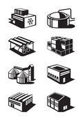 Industrial and commercial warehouses — Stock Vector