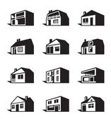Various types of houses — Stock Vector