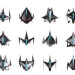 ������, ������: Various spaceships in flight