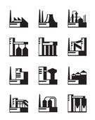 Industriellt byggande set — Stockvektor