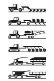 Agricultural machinery icon set — Stock Vector