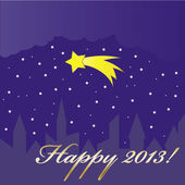 New Year 2013 greeting card. — Stock Vector