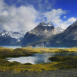 Стоковое фото: Perito Moreno mountains, glacial lake, Argentina, Chile.