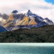 Perito Moreno mountains, glacial lake, Argentina, Chile. — Stock Photo