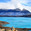 Perito Moreno mountains, glacial lake, Argentina, Chile. — Stockfoto