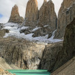 Stock Photo: Towers of Paine mountains, Argentina.