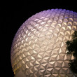 Stock Photo: Epcot symbol by night, Disney World, Florida, USA.