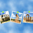 Stock Photo: Valley of Temple, collage, Agrigento, Sicily, Italy.