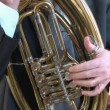 Tuba player. — Stock Video