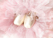 Shoes and tutu for ballerina. — Stock Photo