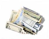 Dollars and euros banknotes. — Stock Photo