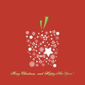 Backround para o natal e o ano novo. — Vetorial Stock