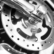 Motorcycle stainess steel wheel. — Stock Photo