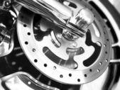 Ruota di moto linea in acciaio inox. — Foto Stock