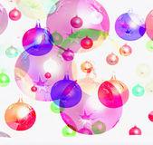Bolas de navidad y año nuevo fondo. — Foto de Stock