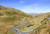 Foscagno Pass. Livigno, Lombardy, Italy. — Stock Photo