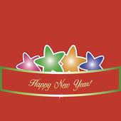 Fondo con estrellas abstractas y rejas para el nuevo año. — Vector de stock