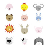 Abstract animal heads. — Stock Vector