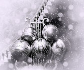 Christmas silver balls. — Stock Photo