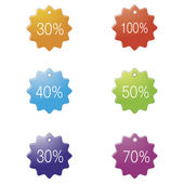 Signs with percentage discount. — Stock Vector