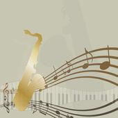 Jazz background. — Stock Vector