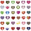 Royalty-Free Stock Vector Image: Set of 36 hearts for any event.