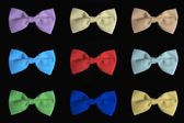 Set nine colored bow tie. — Stock Photo