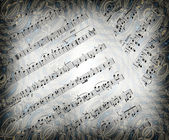 Background with musical notes and texture. — Stock Photo