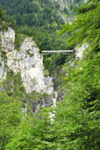 Bridge in front of Neuschwanstein castle in Bavarian alps, Germany — Stock Photo