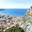 Cefalu, aerial view - Stock Photo