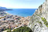 Cefalu, aerial view — Stock Photo