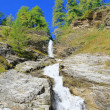 Stock Photo: Small waterfall, Lombardy, Italy.