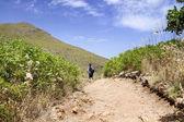 Persona nella riserva naturale in sicilia. — Foto Stock