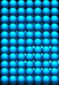 Bolas abstractas sobre fondo rectangular — Foto de Stock