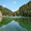 Emerald Lake in Trentino, Italy. — Stock Photo
