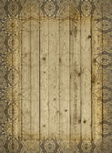 Decorated wooden beams. — Stock Photo