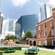 Playground in downtown  Orlando Florida. — Stock Photo