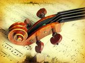 Violin on grunge background. — Stock Photo