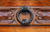 Knocker on decorated door. — Stok fotoğraf