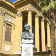 Stock Photo: Giuseppe Verdi and Theater Massimo of Palermo, Italy.