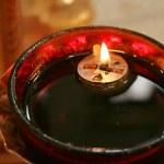 aceite de vela encendida — Foto de Stock