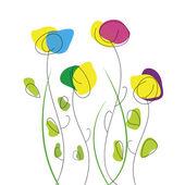 Abstratas flores. — Vetor de Stock