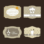 Labels for menu. — Stock Vector