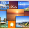 Sicily landscape, collage — Stock Photo
