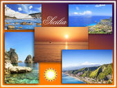 Sicily landscape, collage — Stock Photo