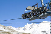 Cable car in Tonale Pass, Italy. — Stock Photo