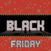 Black Friday background. — Stock Vector