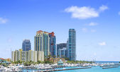 Miami, ansicht vom meer. — Stockfoto