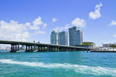 Miami, view from the ocean. — Stock Photo